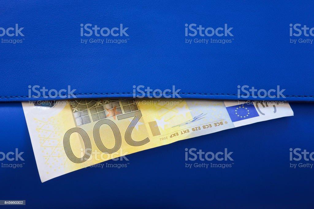 Money in wallet stock photo