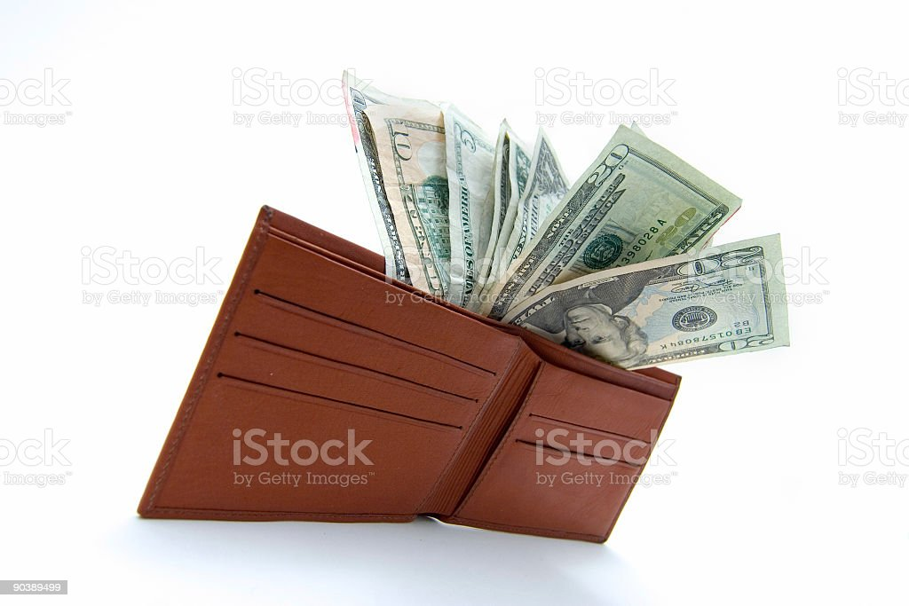 Money in wallet royalty-free stock photo