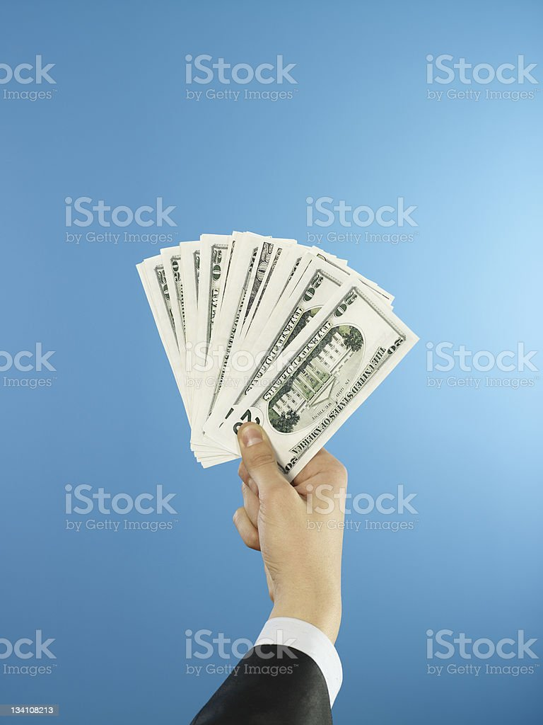 money in your hands royalty-free stock photo