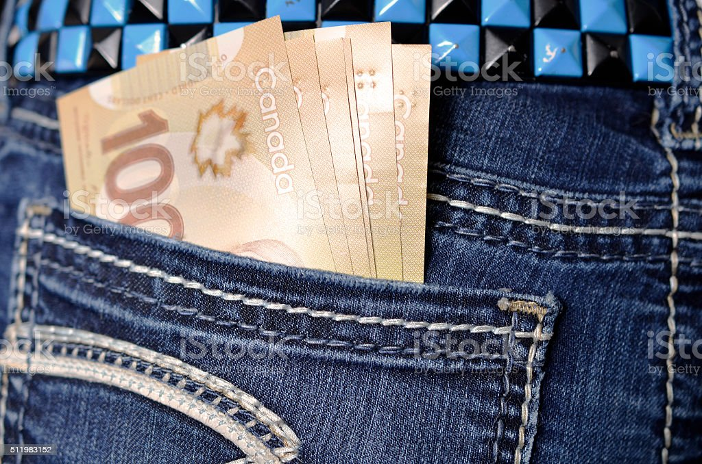 Money in Your Pocket stock photo