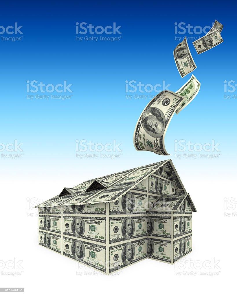 Money Into House(XXL) royalty-free stock photo