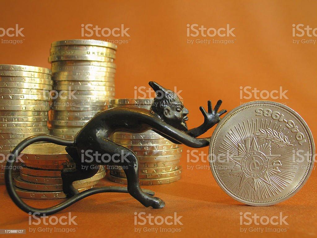 Money is Evil stock photo