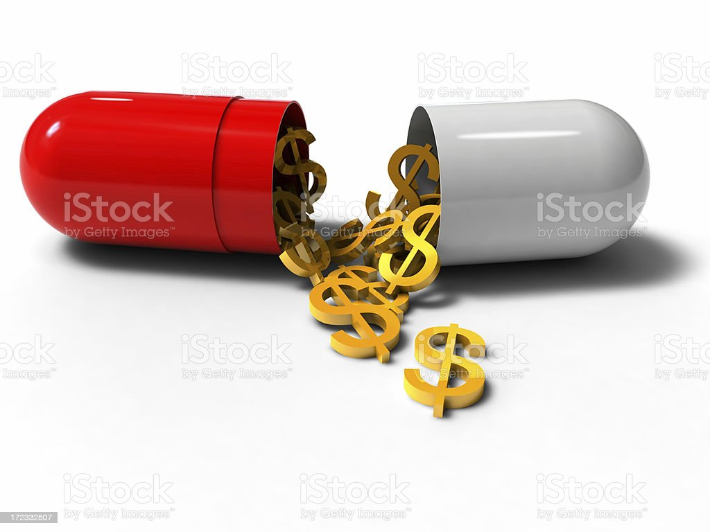 Money is medicine of all stock photo