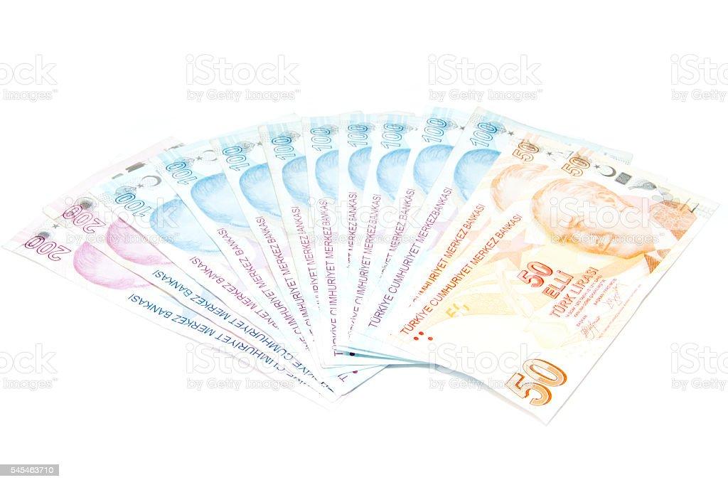 money isolated on white. stock photo