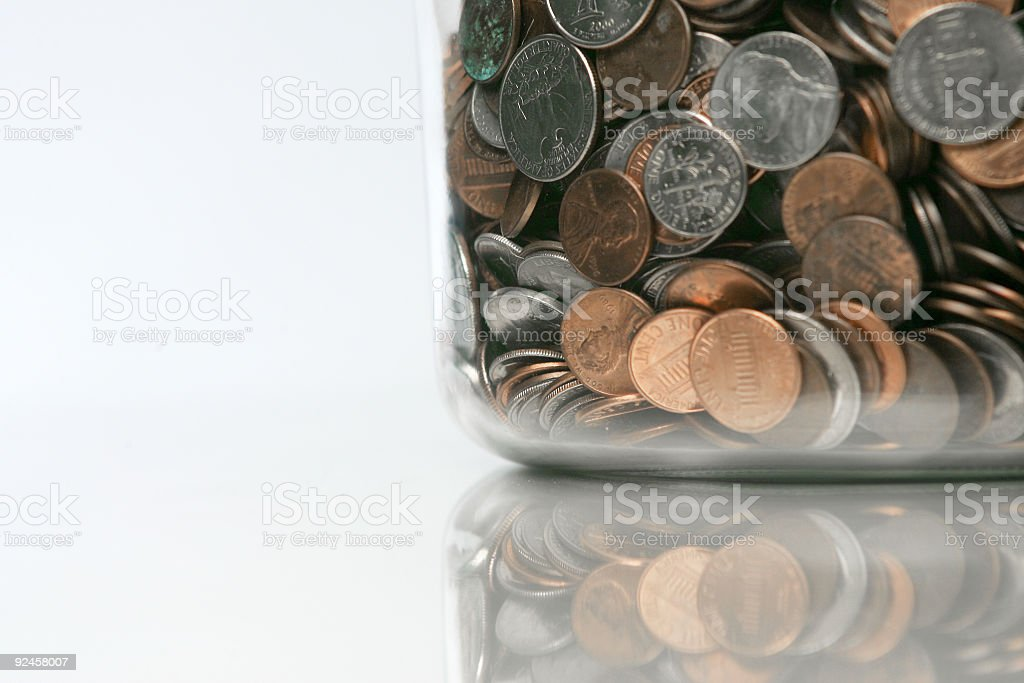 Money Jar 01 royalty-free stock photo