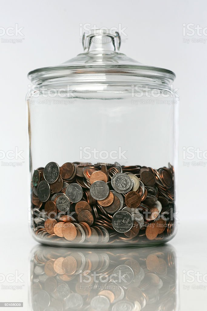 Money Jar 02 royalty-free stock photo
