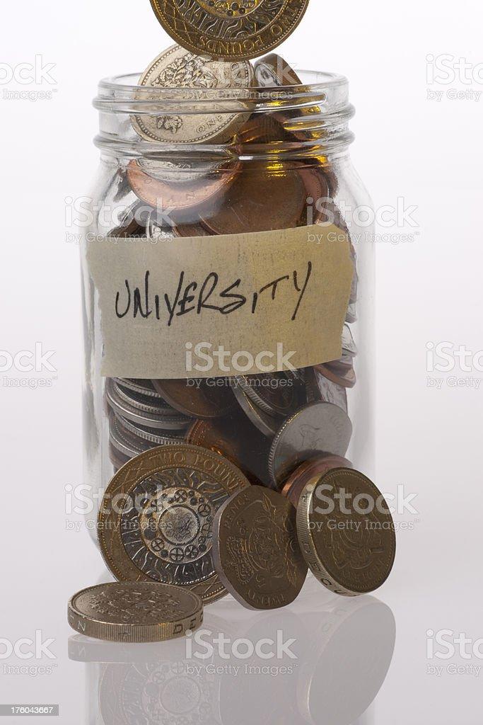 Money Jar British University stock photo