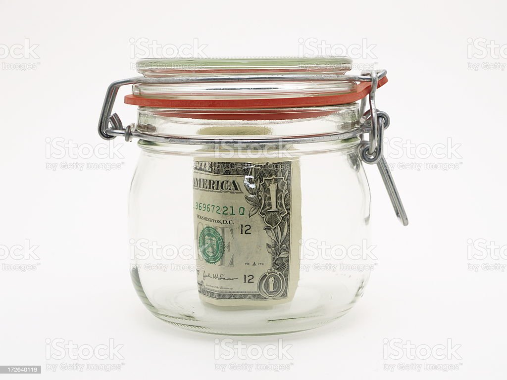 Money Jar royalty-free stock photo