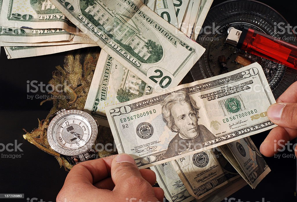 Money, Jewels, and Contraband royalty-free stock photo