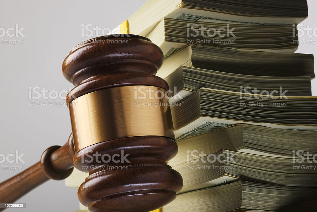 Money & Justice royalty-free stock photo
