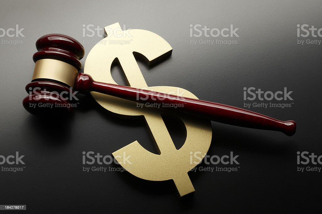 Money & Justice stock photo