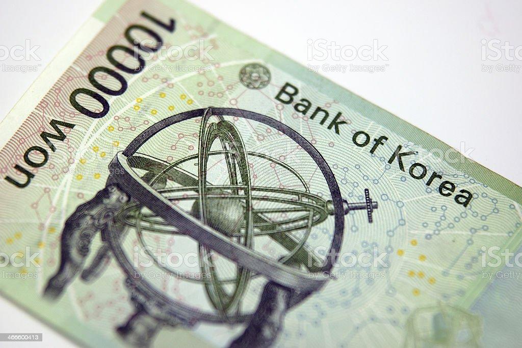 Money Korea royalty-free stock photo