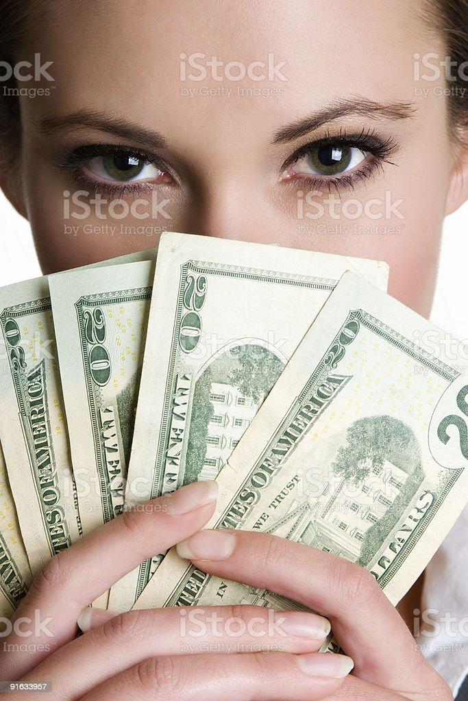 Money lady royalty-free stock photo