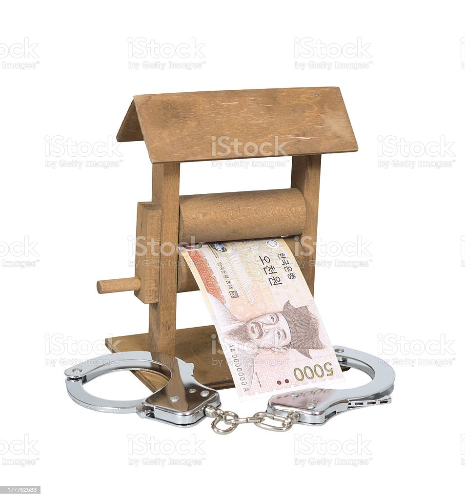 Money laundering royalty-free stock photo