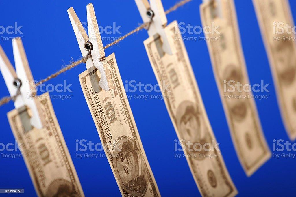 Money laundering royalty-free stock photo