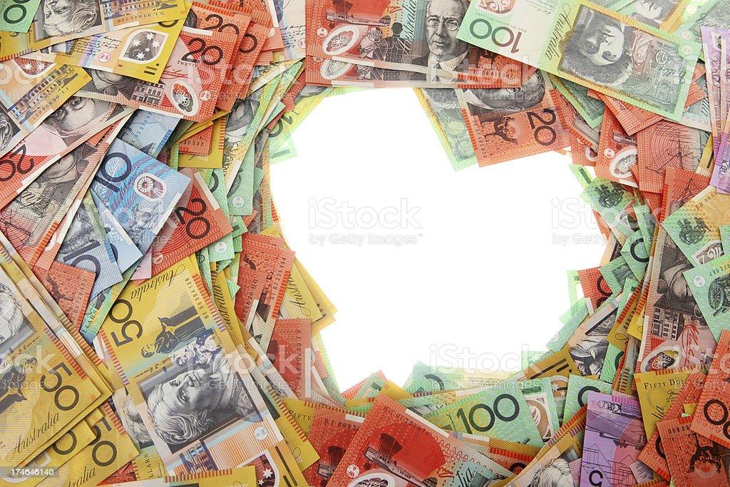 Money Love Border stock photo