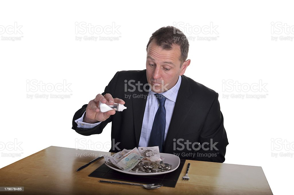 money lunch royalty-free stock photo