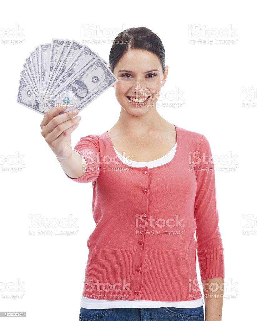 Money makes the world go round royalty-free stock photo