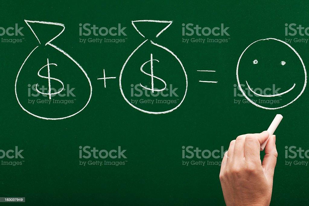 money makes you happy royalty-free stock photo