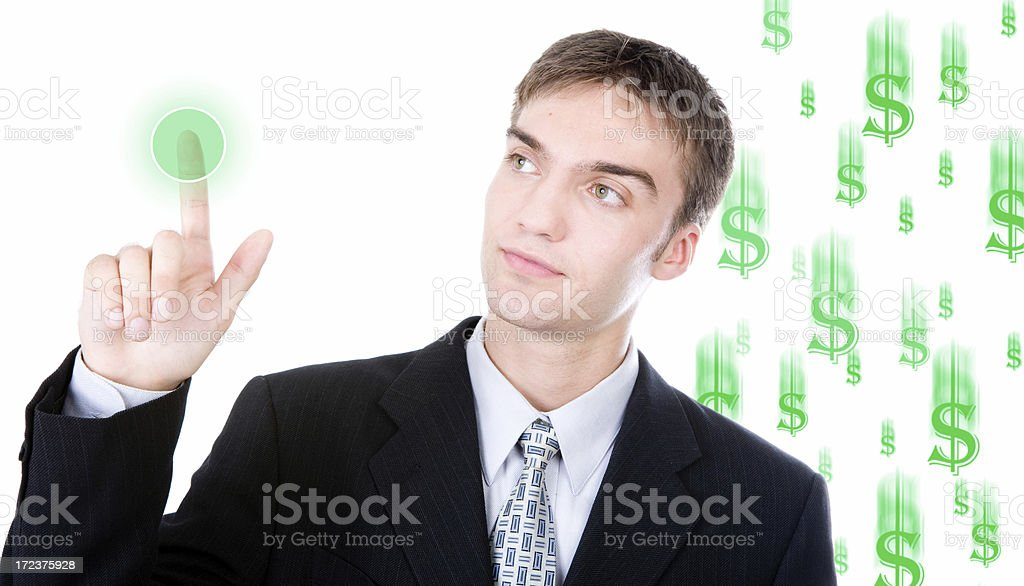 Money Making Button royalty-free stock photo