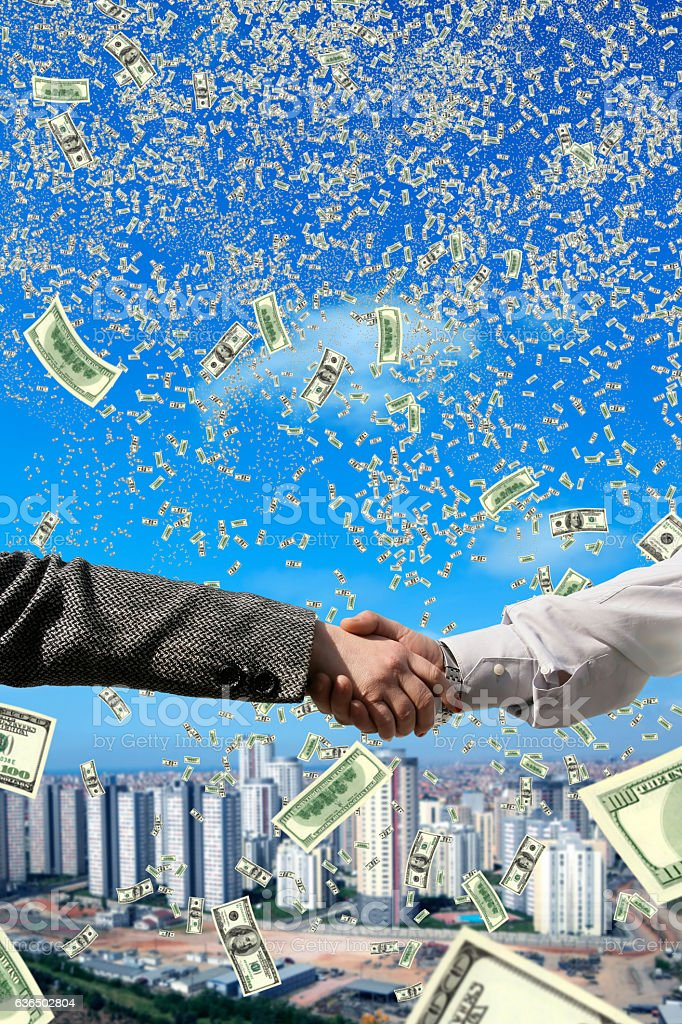 money making deal stock photo