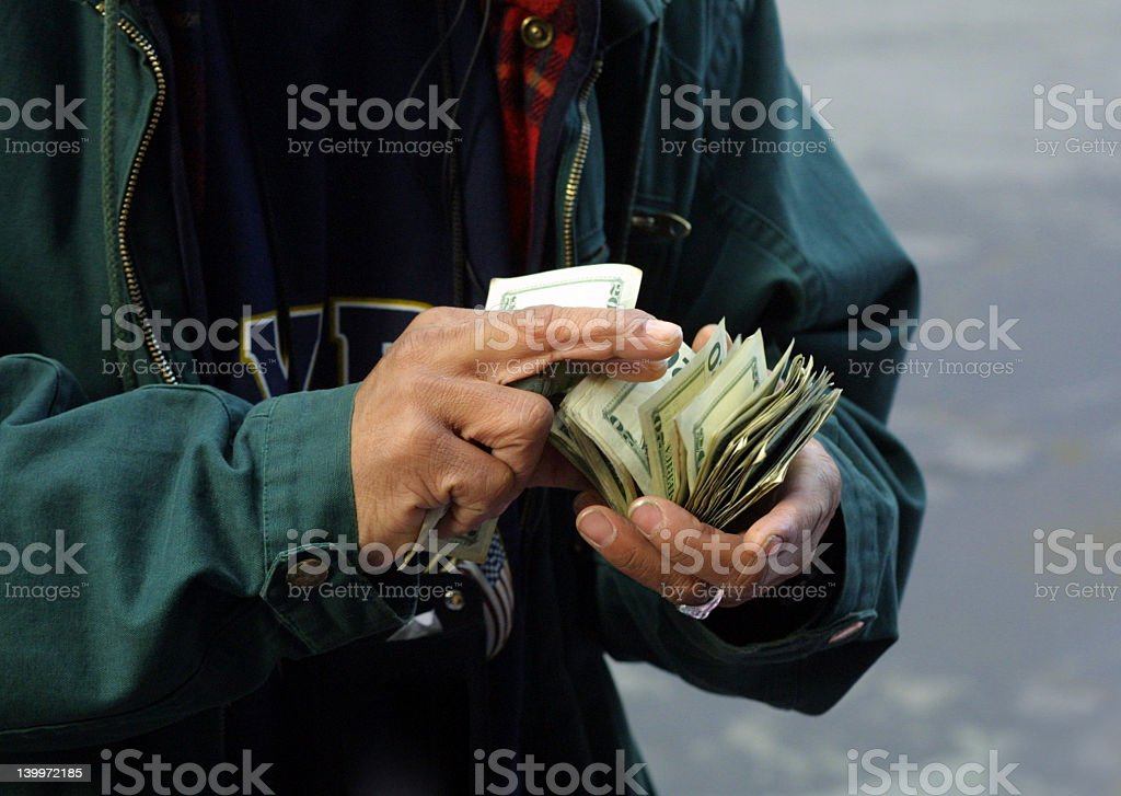 Money Man royalty-free stock photo