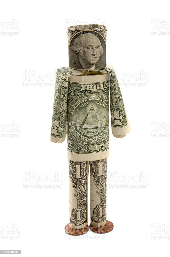 Money Man with Path royalty-free stock photo