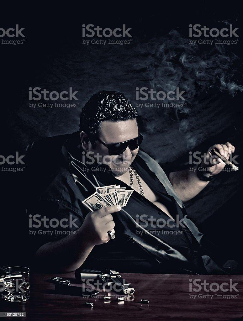 Money man-relax man-ganster man stock photo