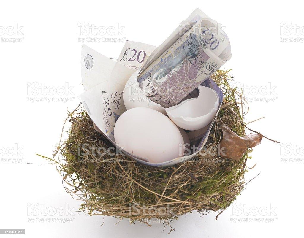 Money Nest stock photo