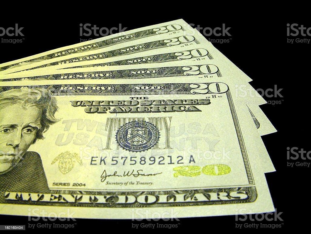 Money - new hundred US dollars stock photo