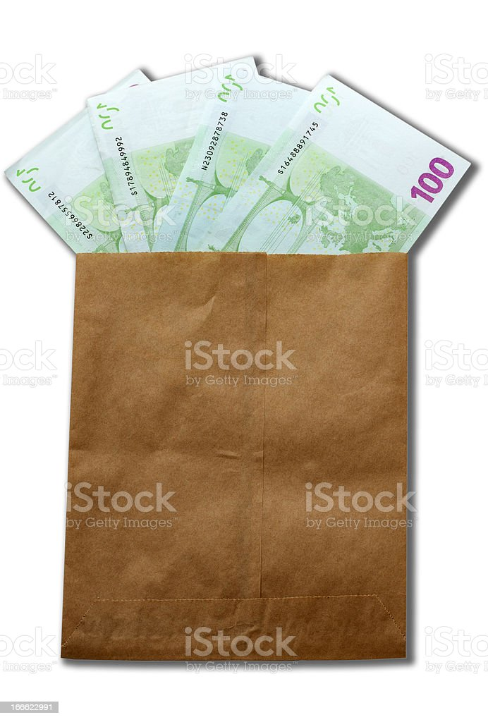 money of Europe in paper envelop royalty-free stock photo