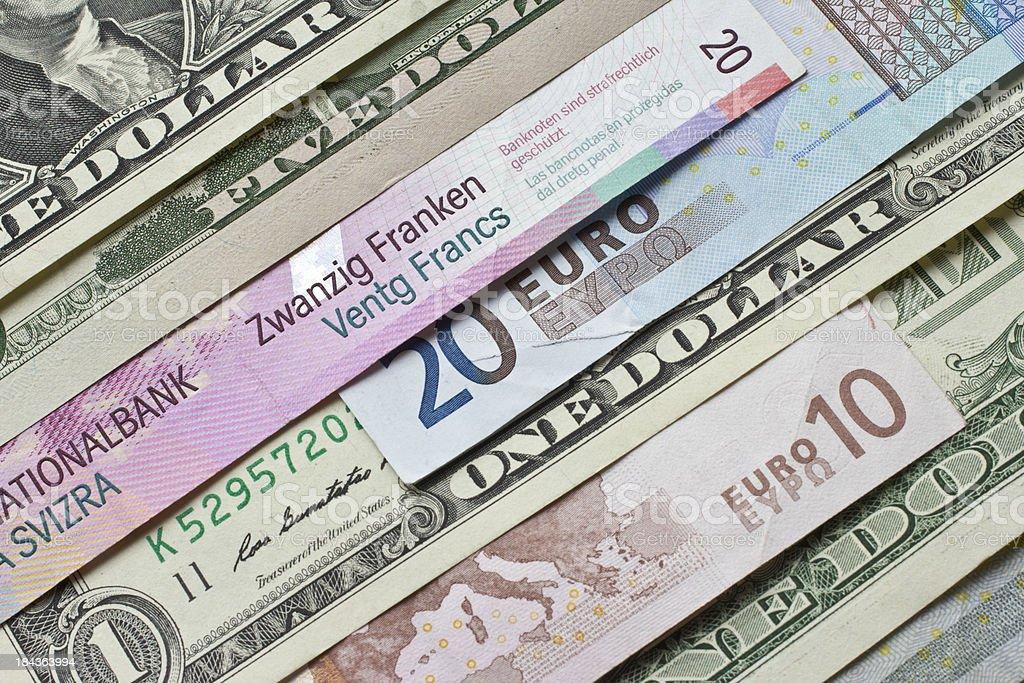 Money of the world royalty-free stock photo