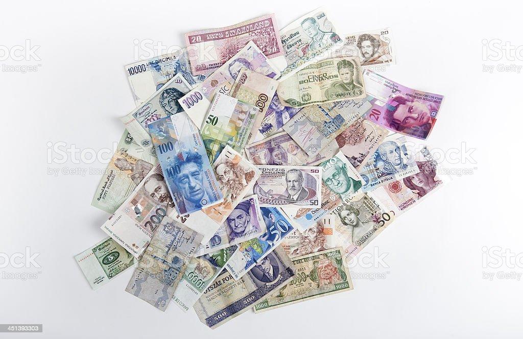 Money of the world stock photo