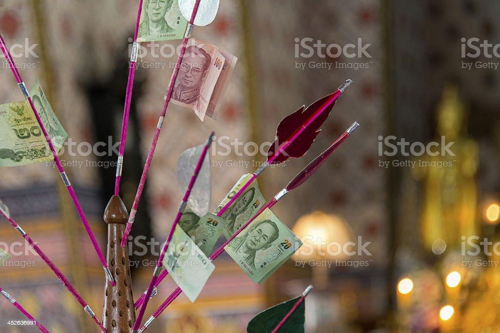 Money Offerings stock photo