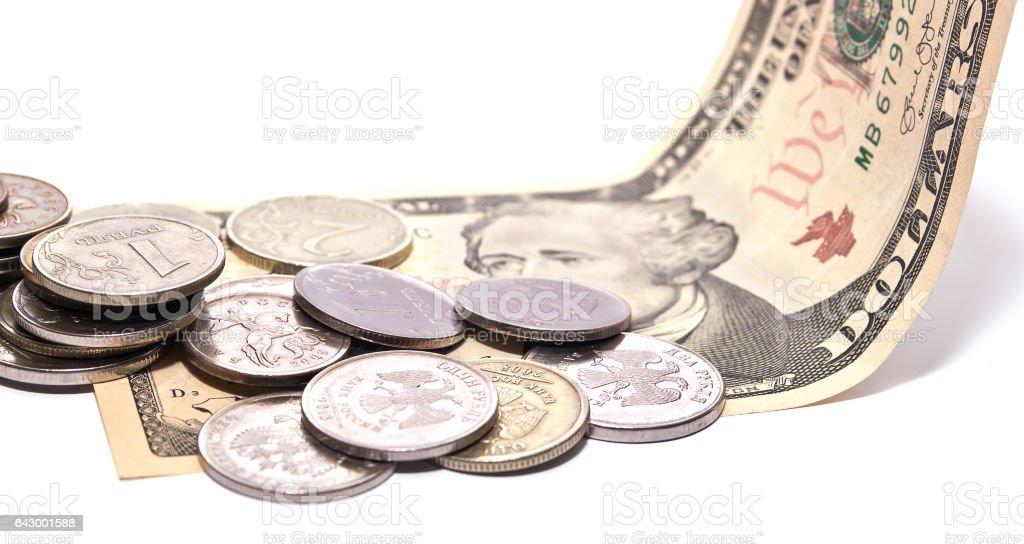 Money on the dollar stock photo