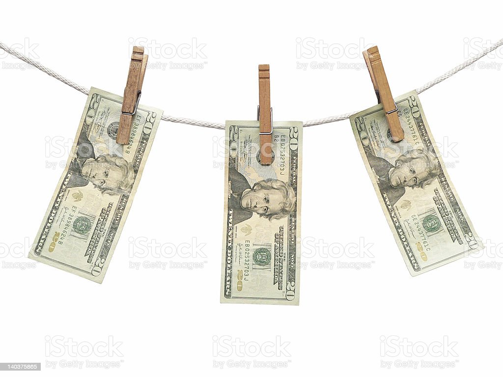 Money on the Line royalty-free stock photo