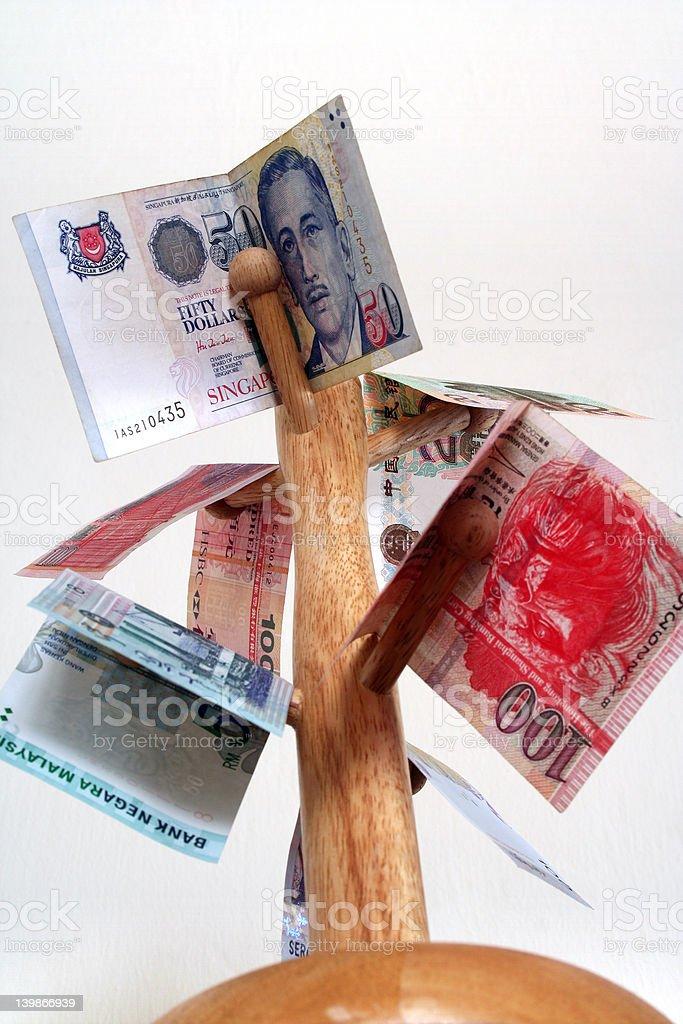 Money On Tree royalty-free stock photo