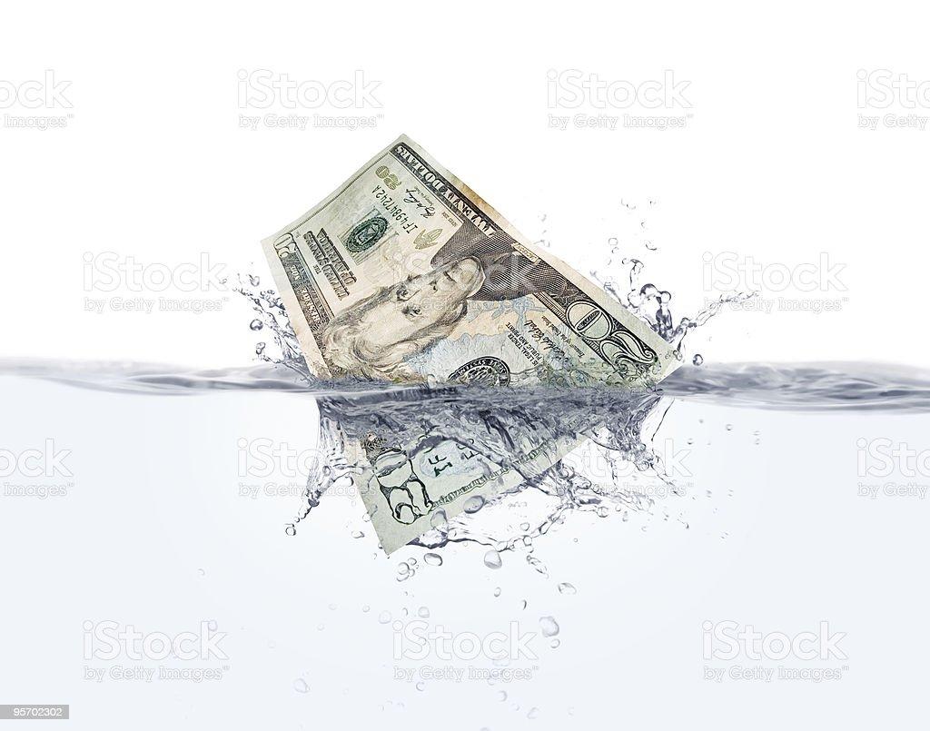 Money on water stock photo