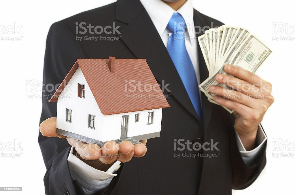 money or house royalty-free stock photo