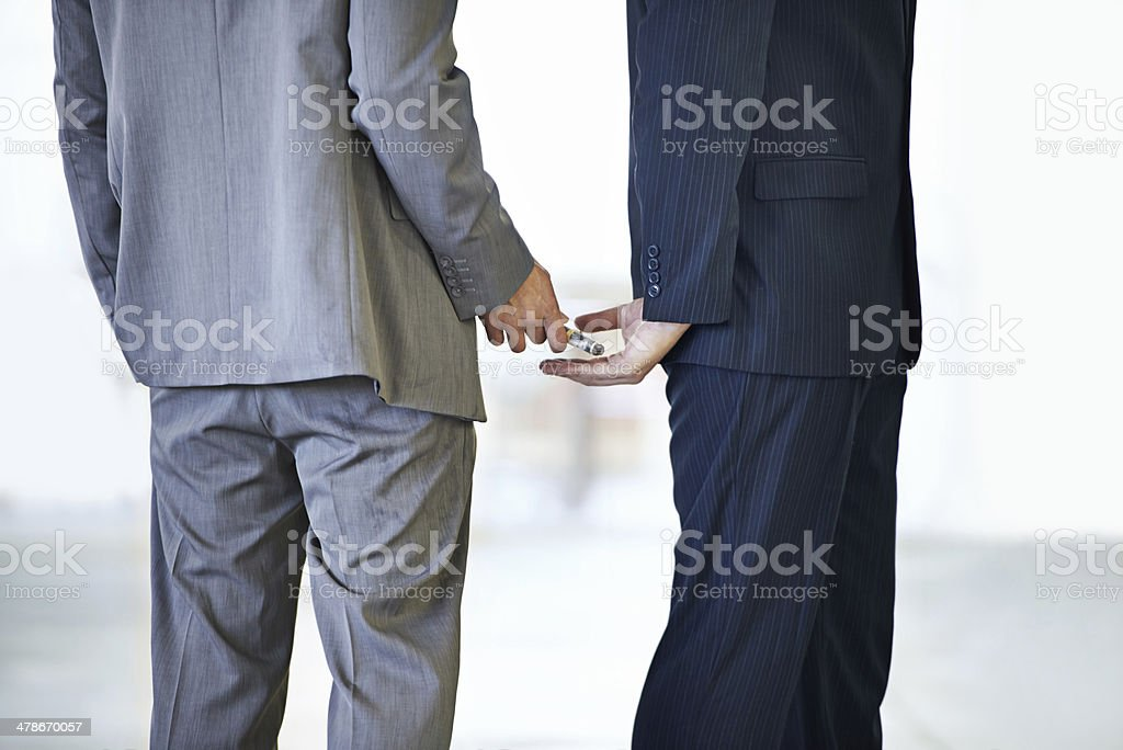 Money passing hands stock photo