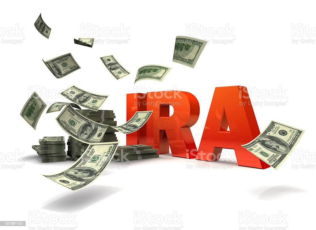 IRA Money stock photo