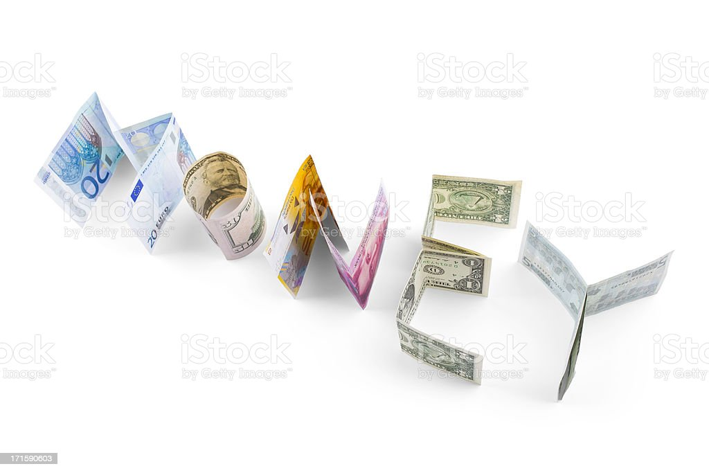 money (clipping path) royalty-free stock photo