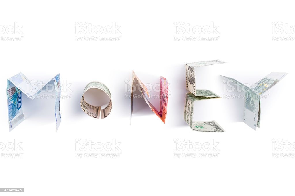 money (clipping path) stock photo