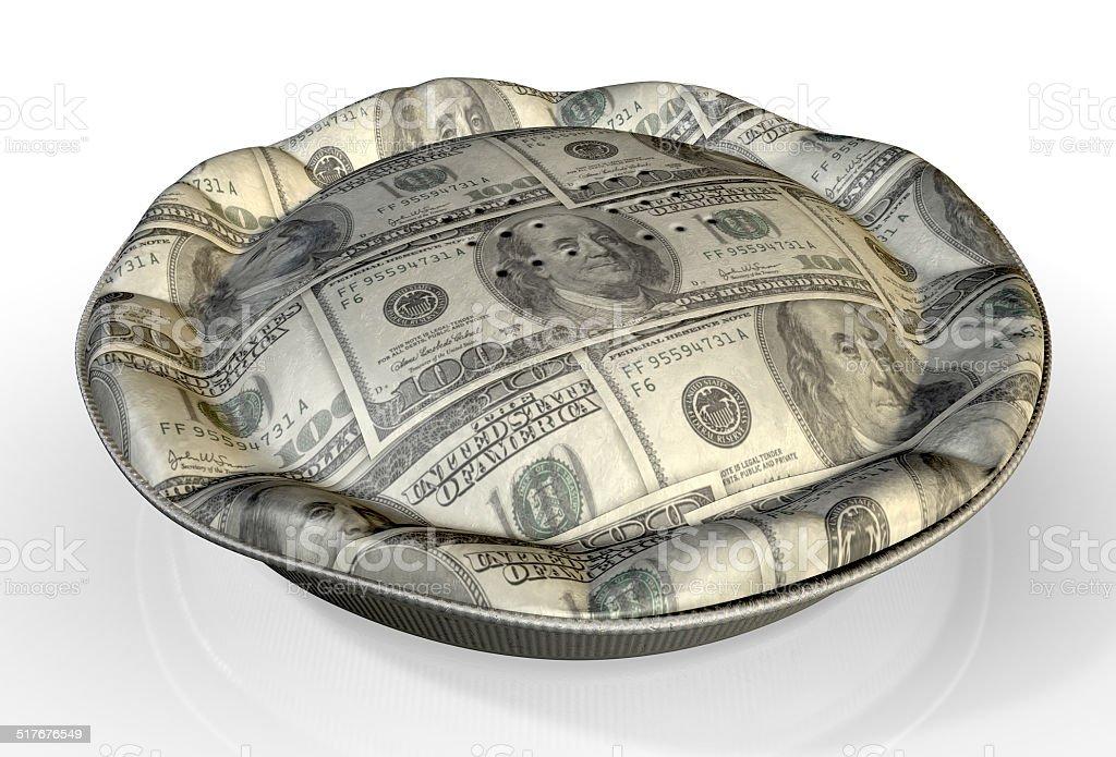 Money Pie US Dollar stock photo