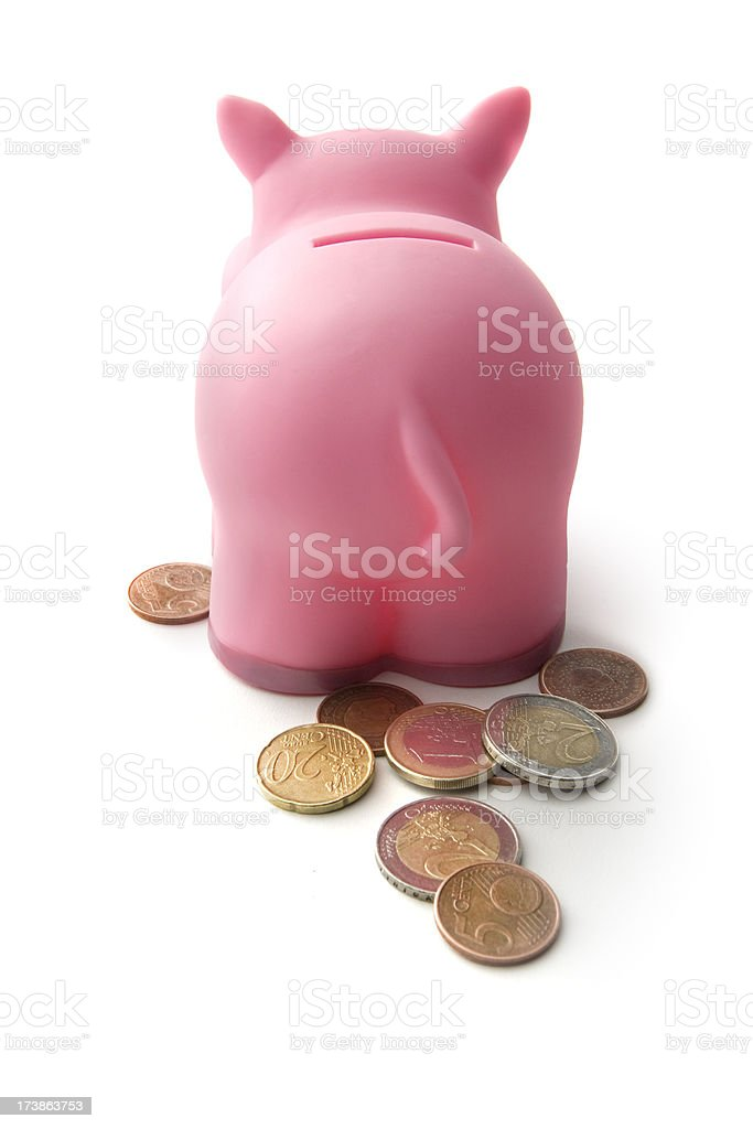 Money: Piggy's Coins royalty-free stock photo