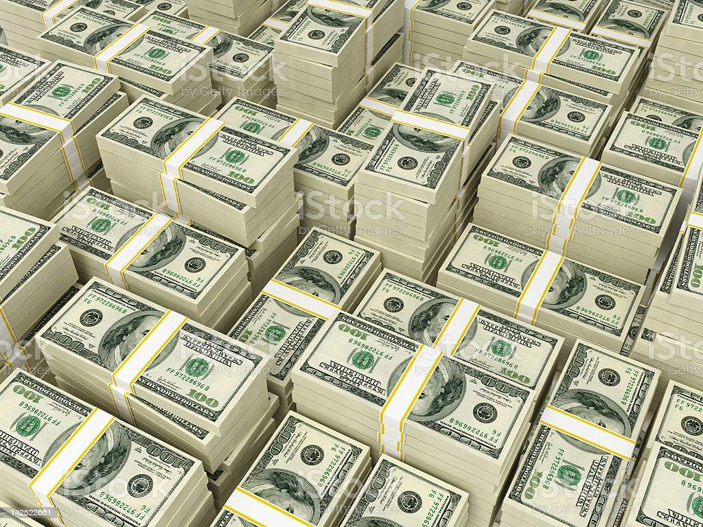 Money Pile $100 dollar bills royalty-free stock photo