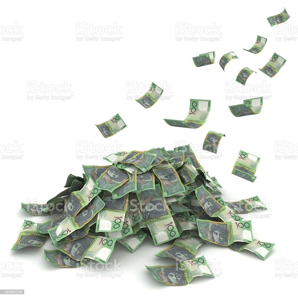 Money Pile - Australian Dollars royalty-free stock photo