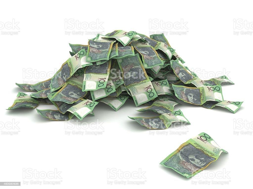 Money Pile - Australian Dollars stock photo