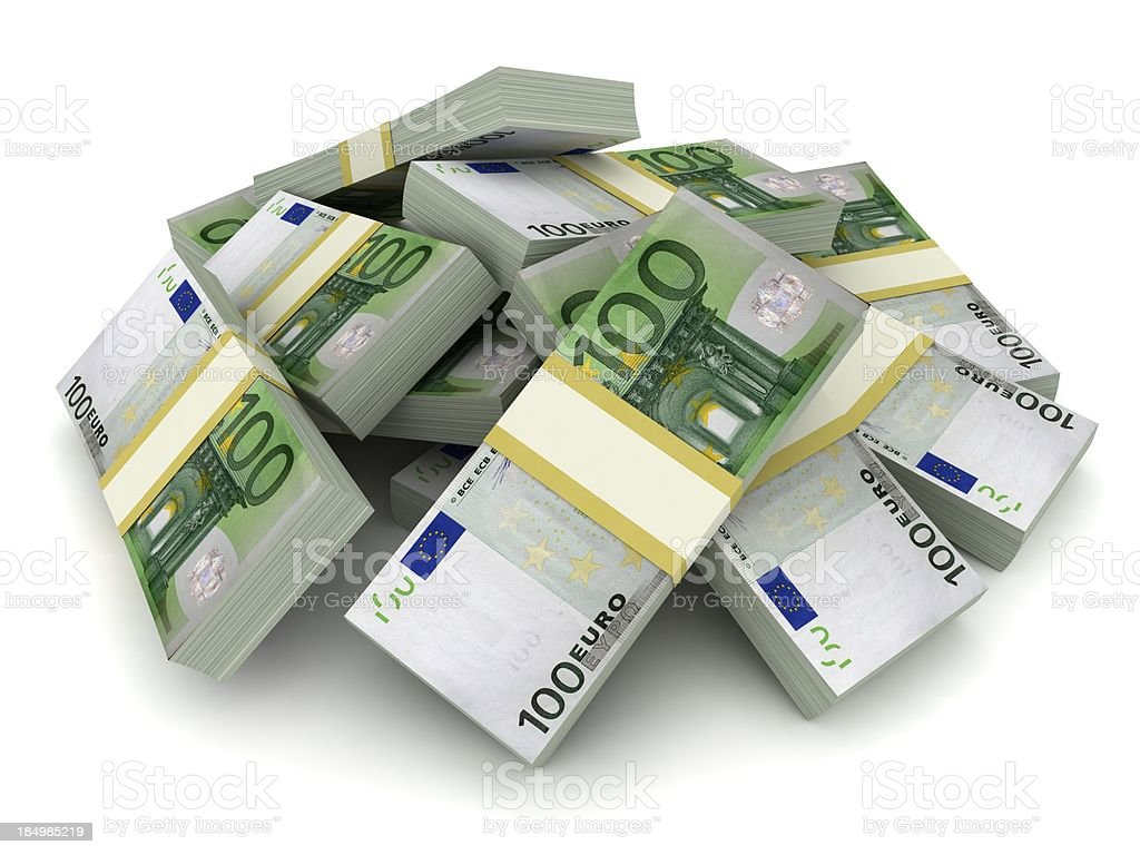 Money Pile - Euro royalty-free stock photo