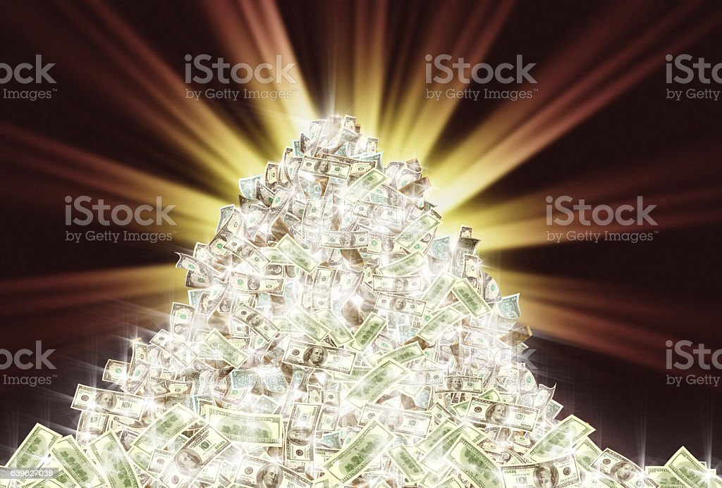 money pile stock photo